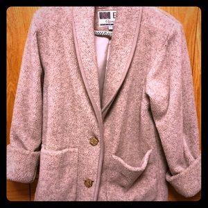 Oatmeal Heather Boucle-Like Textured Coat